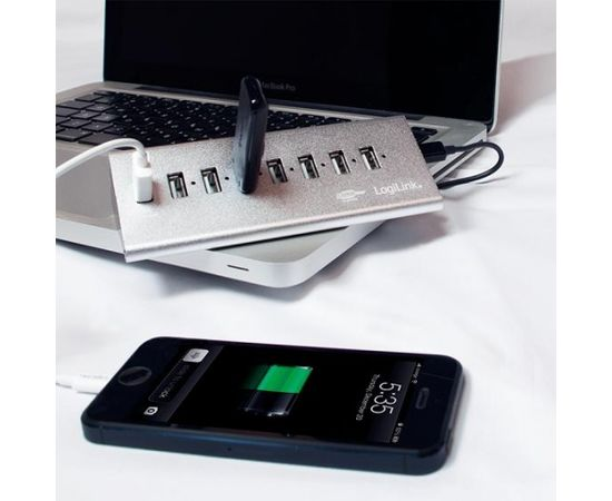 LOGILINK - USB 2.0 High Speed Hub 7-Port + 1x Fast Charging Port