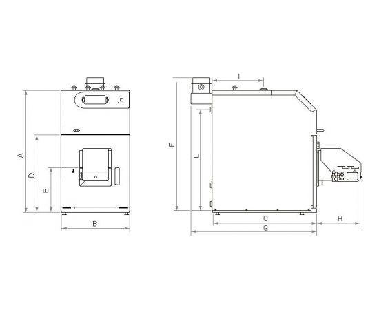 Nibe-Biawar Pellux 100 Touch 20kw granulu katls+deglis