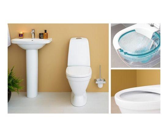 Gustavsberg Nautic 1510 WC  s horizontāls ar SoftClose vāku, CeramicPlus, Hygienic Flush, 4/2l noskalošana