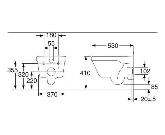 Gustavsberg Piekaramais  s 5G84 Hygenic Flush Soft Close/Quick Release  a vāks