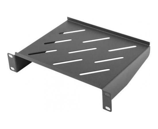 Lanberg fixed shelf 10'' 310mm, 1U/254x180mm, max load capacity up to 20kg black