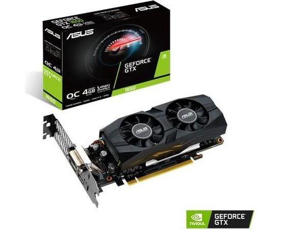 Graphics Card ASUS NVIDIA GeForce GTX 1650 4 GB 128 bit PCIE 3.0 16x GDDR5 Memory 8002 MHz GPU 1515 MHz Dual Slot Fansink 1xDVI 1xHDMI 1xDisplayPort GTX1650-O4G-LP-BRK
