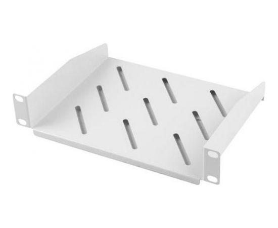 Lanberg fixed shelf 10'' 310mm, 1U/254x180mm, max load capacity up to 20kg grey