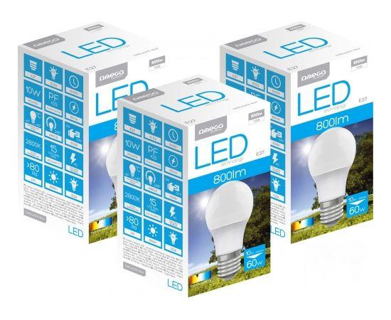 Omega LED lamp E27 10W 2800K 3pcs (44506)