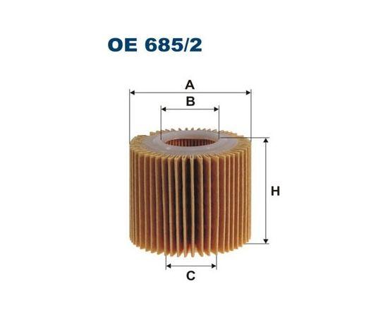 Filtron Eļļas filtrs OE685/2