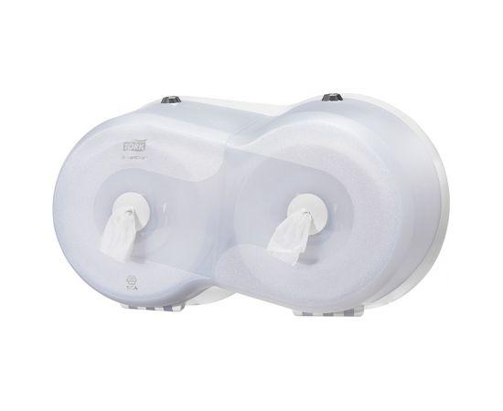 Tualetes papīra turētājs TORK SmartOne Mini Double, 240 x 416 x 180 mm, baltā krāsā