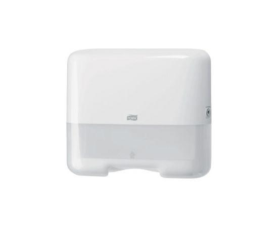 Roku dvieļu dozators TORK SINGLEFOLD/C-FOLD MINI, 291 x 332 x 135 mm, baltā krāsā