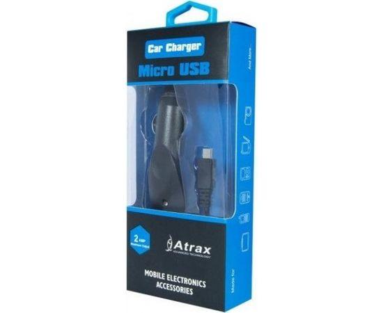 ATX Platinum Premium Auto Lādētājs 12 / 24V / 1A + Micro USB kabelis Melns (Blue Blister)