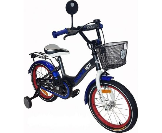 Aga Design Schumacher Kid Smart Art.112710 Blue Bērnu divritenis (velosipēds) ar piepūšamajiem 20 collu riepām