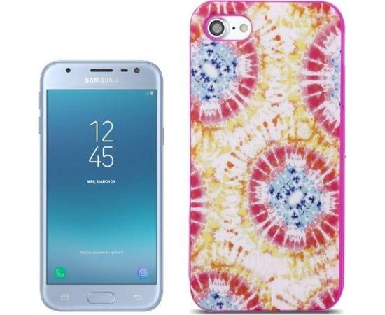Forcell Silikona 3D telefona apvalks priekš Samsung J330F Galaxy J3 (2017) Colorfull
