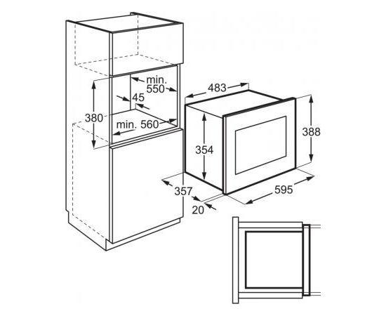 Electrolux EMS4253TEX Iebūvējama mikroviļņu krāsns