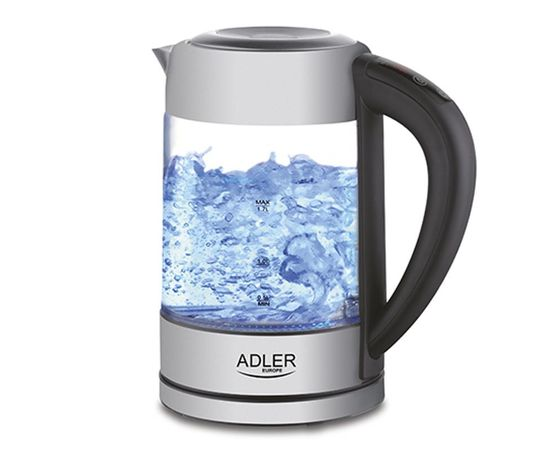 Adler AD 1247 Stainless steel/Transparent, 1850 - 2200 W, 360°, 1.7L