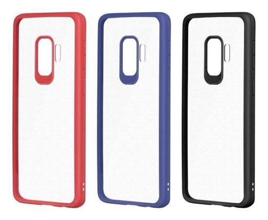 Devia Pure Style Aizmugurējais Silikona Apvalks priekš Samsung G960 Galaxy S9 Caurspīdīgs - Sarkans