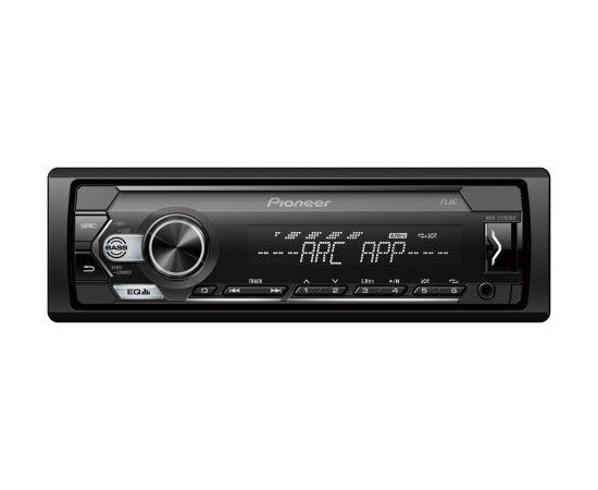 Pioneer MVH-S120UBW MOSFET 4x50W;  USB,FLAC,MP3 ;FM;AUX in;1xRCA; balts/balts apgaismojums                                                                                                                     .