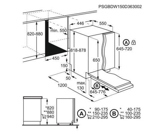 Electrolux EEA22100L iebūvējamā trauku mazgājamā mašīna 45cm
