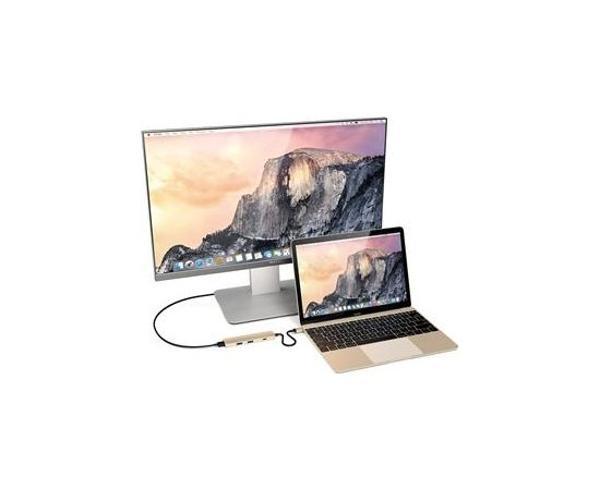 Satechi USB-C Multi-port 4K - 2x USB-A + USB-C + HDMI Adapteris