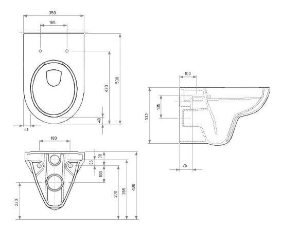 Kolo Nova Pro pie sienas piestiprināms WC  s Rimfree