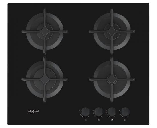 Whirlpool AKT616NB gāzes plīts virsma, 60cm, melns stikls