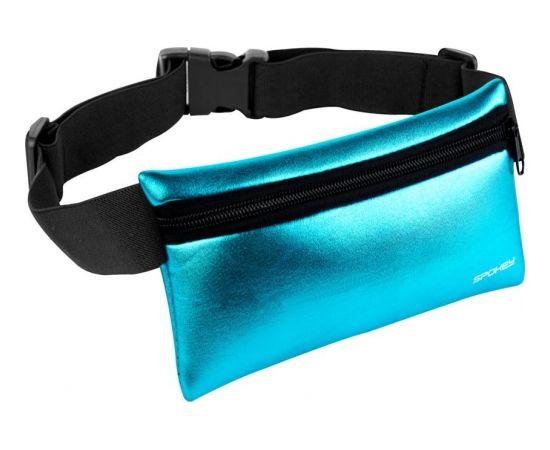 Spokey BUMBAG Hips bag, Zip and buckle fastening, Blue, 100% elastane