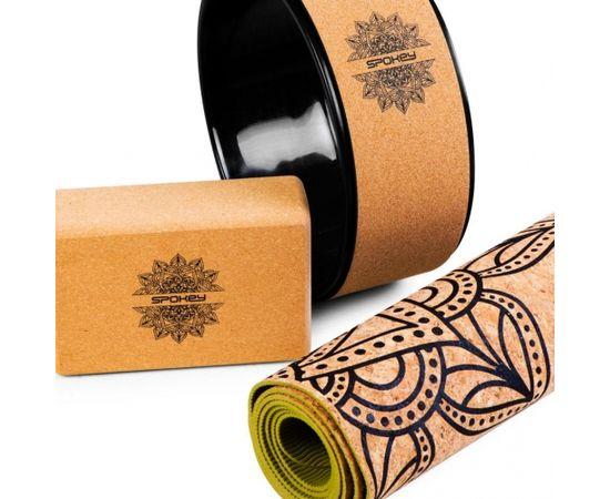 Spokey NIDRA Yoga Block, 7.5 x 15.2 x 22.5 cm, Brown, Cork