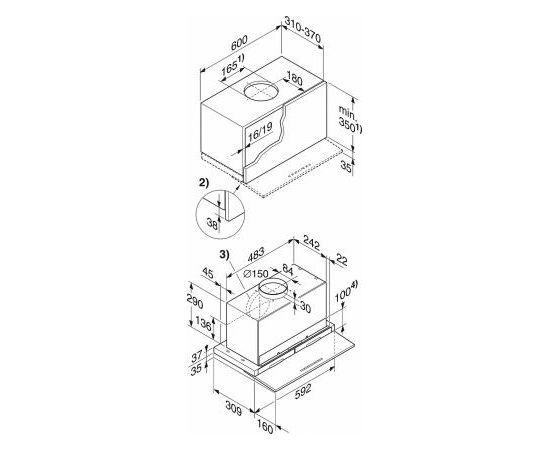 Miele DA 3568 iebūvējams tvaika nosūcējs
