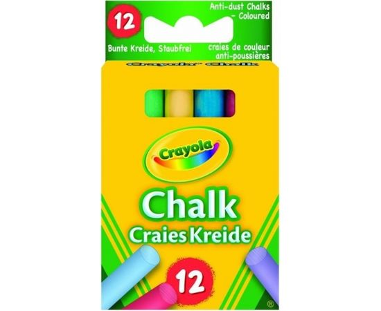 Crayola Kaļķa krītiņi krāsaini, 12 gb.