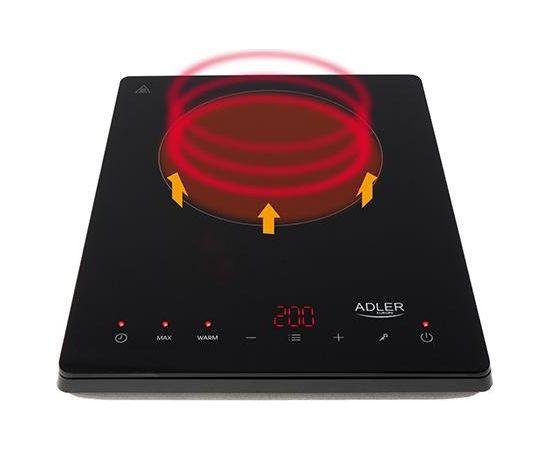 Adler Hob AD 6513  Indukcijas virsma LCD Displeijs Melna