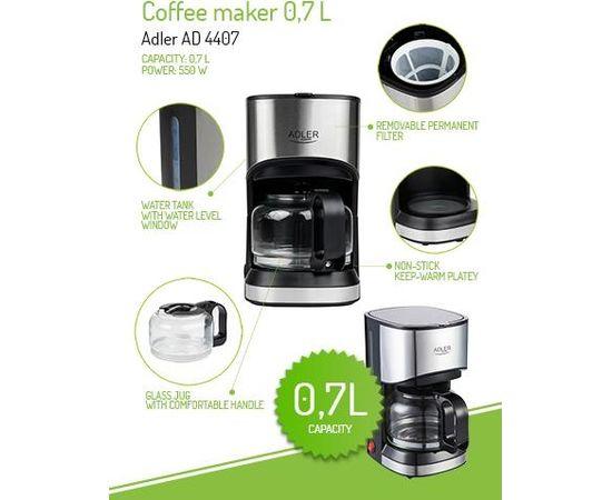 Adler AD 4407 Coffee maker Drip 550 W Black