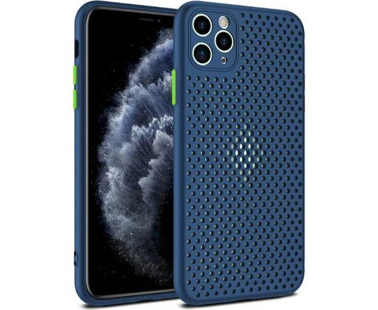 Fusion Breathe Case Silikona Aizsargapvalks Priekš Samsung G980 Galaxy S20 Zils