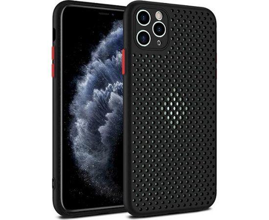 Fusion Breathe Case Silikona Aizsargapvalks Priekš Samsung G980 Galaxy S20 Melns