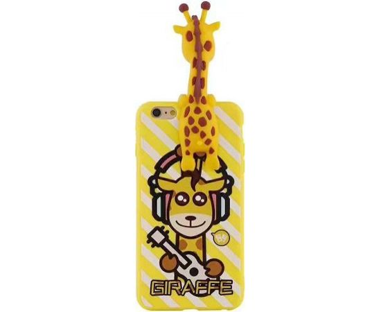 Fusion Giraffe Back Case Silikona Aizsargapvalks Priekš Apple iPhone X / XS Dzeltens