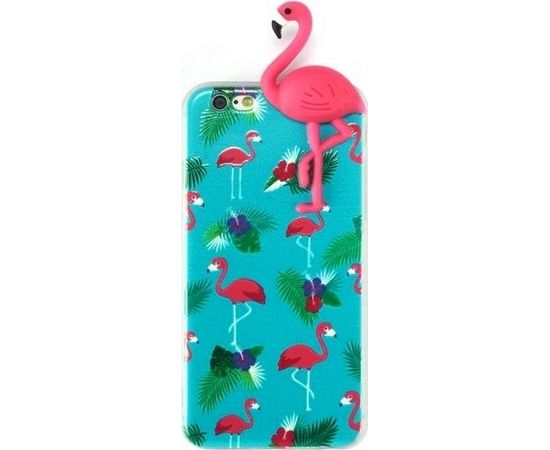 Fusion Flamingo Back Case Silikona Aizsargapvalks Priekš Apple iPhone X / XS Zils