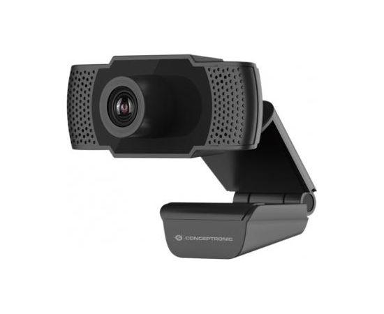 Conceptronic AMDIS01B 1080p Full HD Webcam WEB KAMERA AR MIKROFONU (Ir veikalā)