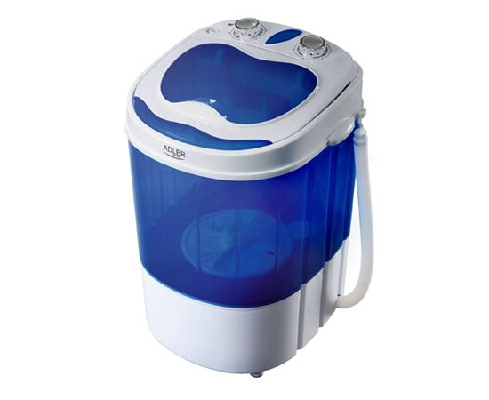 Adler   AD 8051 Top loading, Washing capacity 3 kg, Unspecified RPM, Unspecified, Depth 37 cm, Width 38 cm, White/Blue