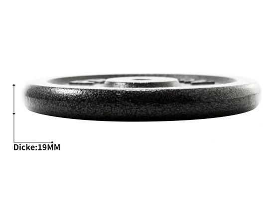 PROIRON PRKISP01K Weight Plates Set, 4 x 1.25 kg, Black, Solid Cast Iron