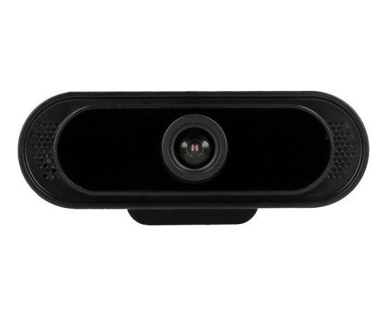 RoGer A16 Web Kamera Full HD 1080P ar Mikrofonu Melna