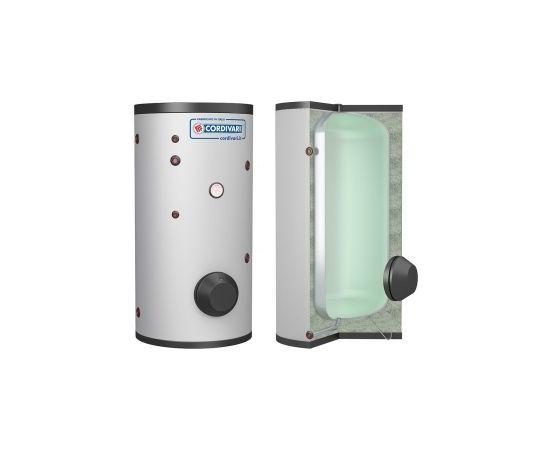 Cordivari karstā ūdens akum.tvertne Vaso Inerziale WC 500L, 8bar, (Tmax 90 °C)