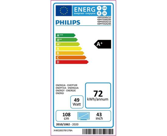 """PHILIPS 43PFS5505/12 43"""" Full HD LED TV televizors"""