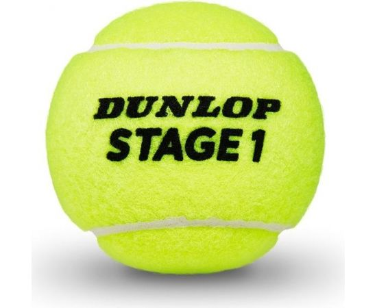 Tennis balls Dunlop STAGE 1 GREEN 3-tube ITF