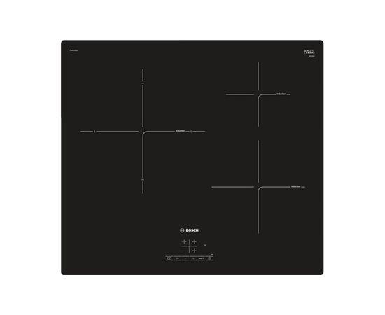 Bosch PUJ611BB1E Indukcijas plīts virsma, Black, Display, Timer (Ir veikalā)