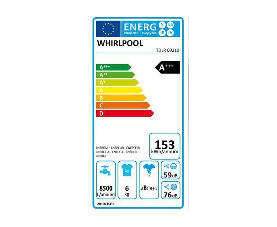 WHIRLPOOL TDLR60210 veļas mazg. mašīna, 6kg, A+++, 6prāts, Soft Opening