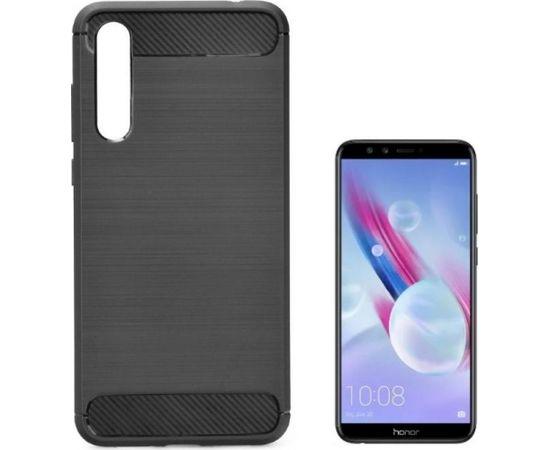 TakeMe супер тонкий и прочный TPU чехол-крышка с эффектом КАРБОНА для Huawei Honor 9 Lite Черный