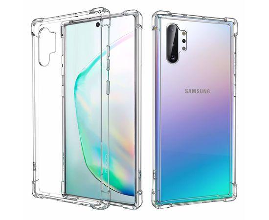 Fusion Ultra Back Case 0.3 mm izturīgs Silikona Aizsargapvalks Priekš Samsung N975 Galaxy Note 10 Plus Caurspīdīgs