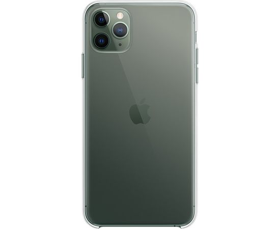 Fusion Ultra Back Case 0.3 mm izturīgs Silikona Aizsargapvalks Priekš Apple iPhone 11 Pro Caurspīdīgs