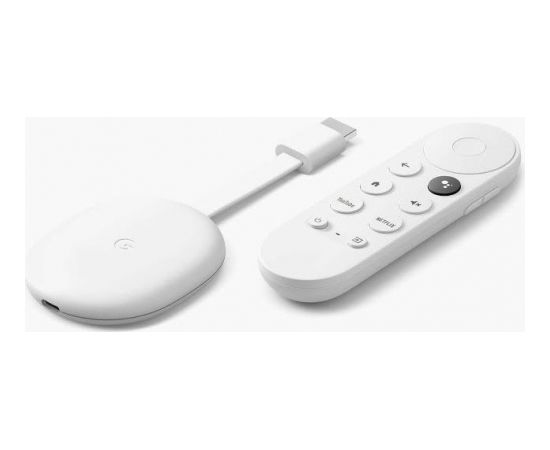 Google Chromecast 4K + Google TV, white