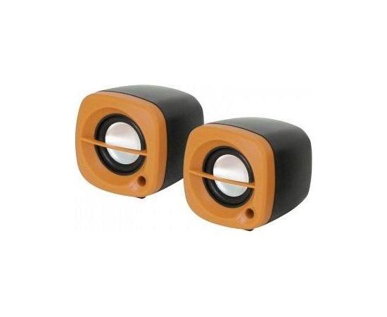 Omega OG15O Stereo Datora Skaļruņi 2.0 ar 3.5mm Audio / USB Strāvas pieslēgumu 2x 3W Oražs