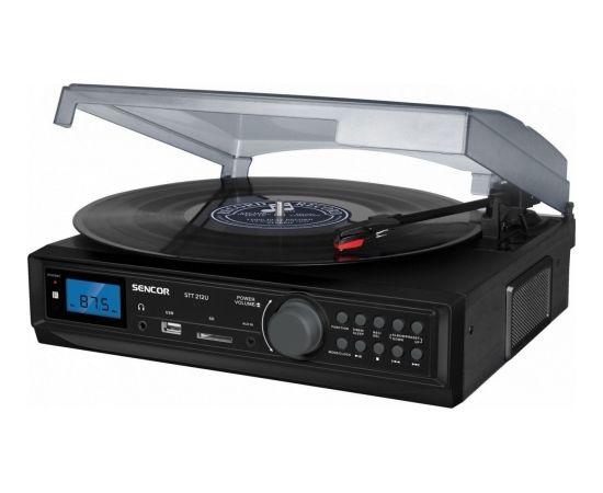 Gramofon Sencor Gramofon cyfrowy tuner fm usb/sd mp3 bt (STT 212U)