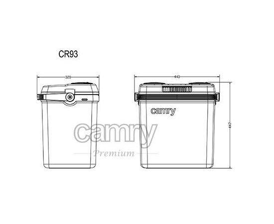 Camry CR 93 32L 12V/220V auto ledusskapis (Ir veikalā)