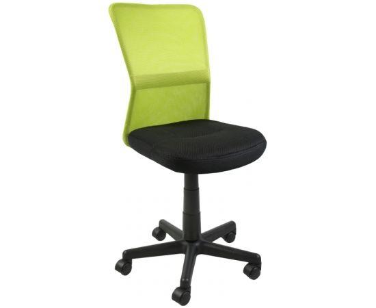 Darba krēsls BELICE 41x42xH83-93cm, sēdeklis: audums, krāsa: melna, atzveltne: siets, krāsa: zaļa