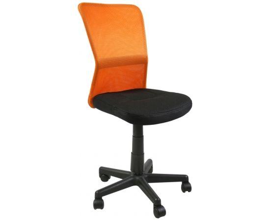 Darba krēsls BELICE 41x42xH83-93cm, sēdeklis: audums, krāsa: melna, atzveltne: siets, krāsa: oranža